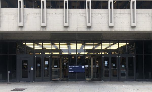 Exterior of Daley Library